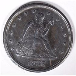 1875-S SEATED LIBERTY TWENTY CENT PIECE  BU