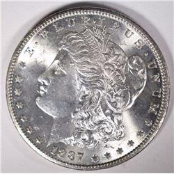 1887-S MORGAN DOLLAR GEM BU