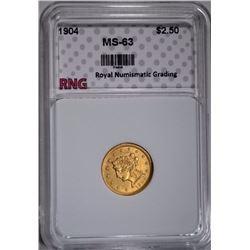 1904 $2.50 GOLD LIBERTY RNG CH BU