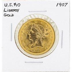 1907 $10 Liberty Head Eagle Gold Coin