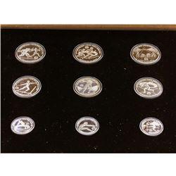 1982 Greece Pan European Olympic Games (9) Coin Silver Set