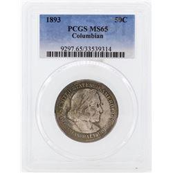 1893 Columbian Centennial Commemorative Half Dollar Coin PCGS MS65