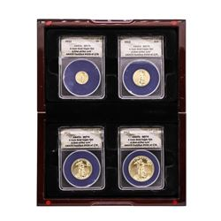 2013 American Gold Eagle (4) Coin Set ANACS MS70 First Strike