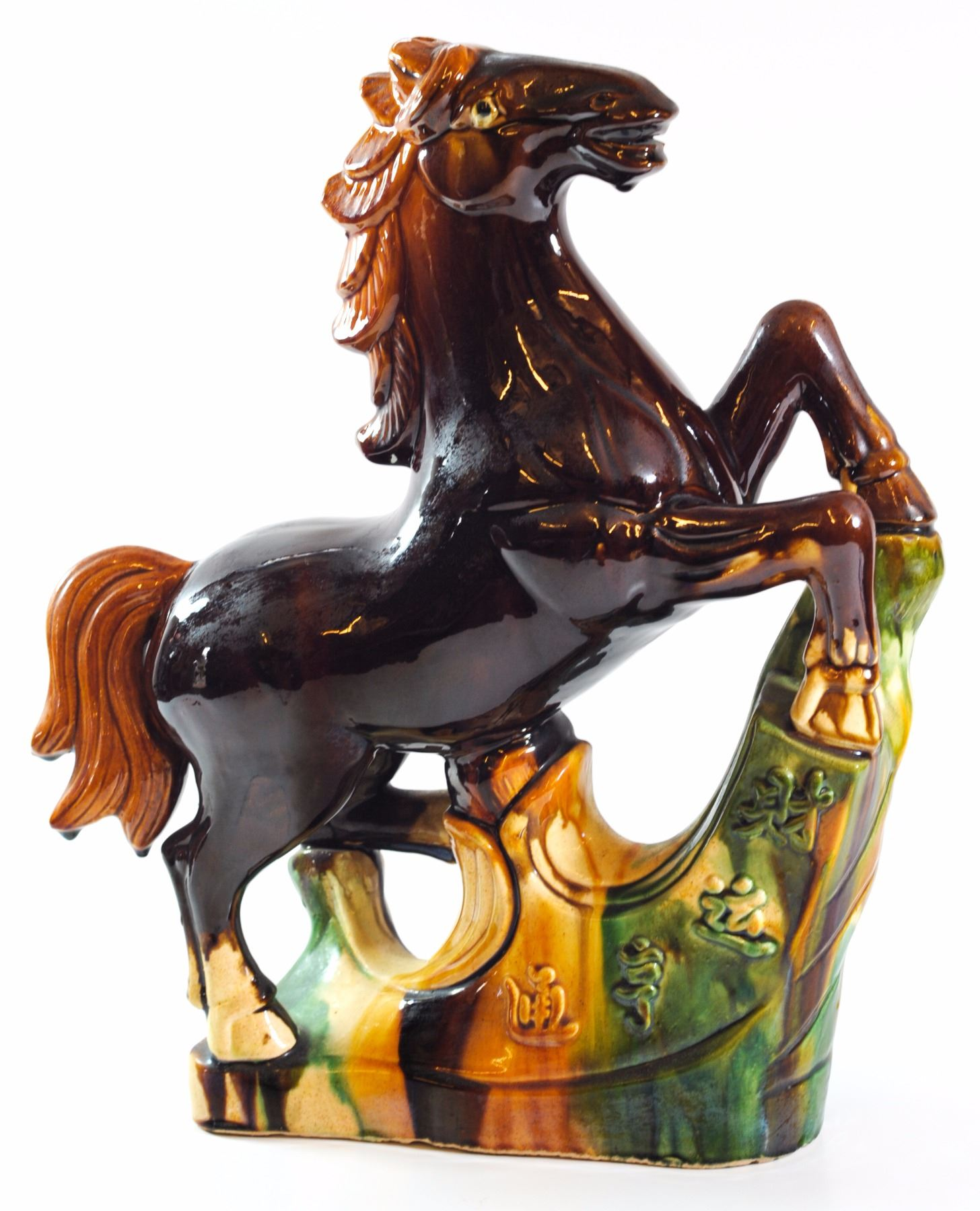 Old Chinese Ceramic Horse Sculpture