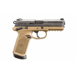 "FN FNX-45 4.5"" FDE/BLK 3 MAG MS 15RD"