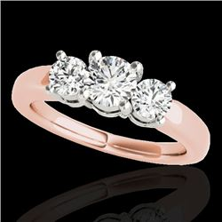 2 CTW H-SI/I Certified Diamond 3 Stone Solitaire Set 10K Rose Gold - REF-290Y9X - 35440