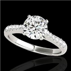 1.25 CTW H-SI/I Certified Diamond Solitaire Ring 10K White Gold - REF-200X2R - 34819