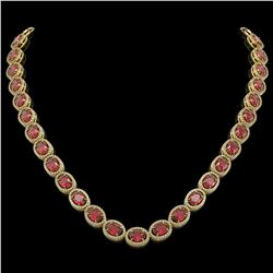 49.46 CTW Tourmaline & Diamond Necklace Yellow Gold 10K Yellow Gold - REF-763X6R - 40966