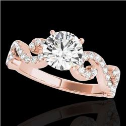 1.40 CTW H-SI/I Certified Diamond Solitaire Ring 10K Rose Gold - REF-218H2M - 35242