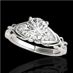 1.35 CTW H-SI/I Certified Diamond Solitaire ring 10K White Gold - REF-236N4A - 35207