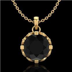1.50 CTW Fancy Black Diamond Solitaire Art Deco Stud Necklace 18K Yellow Gold - REF-89W3H - 37382