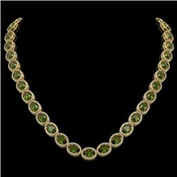 49.46 CTW Tourmaline & Diamond Necklace Yellow Gold 10K Yellow Gold - REF-763H6M - 40969
