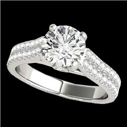 2.11 CTW H-SI/I Certified Diamond Pave Ring 10K White Gold - REF-361K6W - 35464
