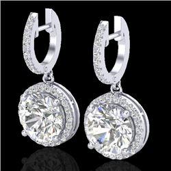 4.50 CTW Micro Pave VS/SI Diamond Certified Designer Halo 18K White Gold - REF-1868Y2X - 23181