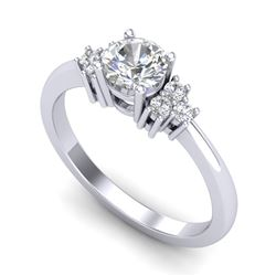 0.75 CTW VS/SI Diamond Ring 18K White Gold - REF-131A3V - 36932