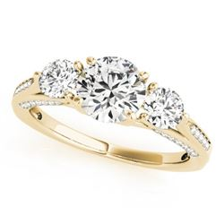 1.75 CTW Certified VS/SI Diamond 3 Stone Ring 18K Yellow Gold - REF-427Y3X - 27992