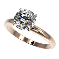 2.03 CTW Certified H-SI/I Quality Diamond Solitaire Engagement Ring 10K Rose Gold - REF-615A2V - 364