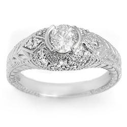 0.75 CTW Certified VS/SI Diamond Ring 18K White Gold - REF-133F3N - 11651