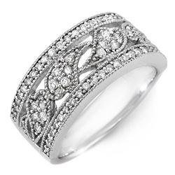 0.75 CTW Certified VS/SI Diamond Ring 14K White Gold - REF-83A6V - 11527