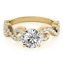 0.90 CTW Certified VS/SI Diamond Solitaire Ring 18K Yellow Gold - REF-131R3K - 27854