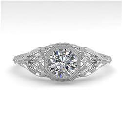 0.50 CTW VS/SI Diamond Solitaire Engagement Ring 18K White Gold - REF-104K7W - 36015