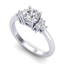 1 CTW VS/SI Diamond Solitaire Ring 18K White Gold - REF-227M3F - 36935