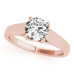 1 CTW Certified VS/SI Diamond Solitaire Wedding Ring 18K Rose Gold - REF-357W3H - 28153