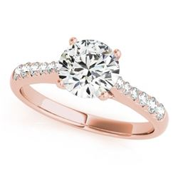 0.75 CTW Certified VS/SI Diamond Solitaire Ring 18K Rose Gold - REF-112K9W - 27427