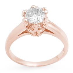 1.0 CTW Certified VS/SI Diamond Ring 14K Rose Gold - REF-274F2N - 11547