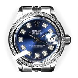 Rolex Ladies Stainless Steel, Diamond Dial & Diamond Bezel, Sapphire Crystal - REF-426H5W