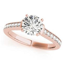 1.50 CTW Certified VS/SI Diamond Solitaire Ring 18K Rose Gold - REF-385R6K - 27529