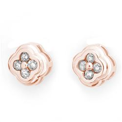 0.50 CTW Certified VS/SI Diamond Earrings 14K Rose Gold - REF-47W3H - 10515