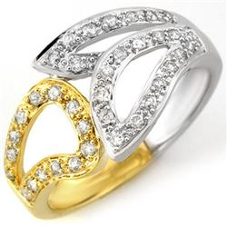 0.33 CTW Certified VS/SI Diamond Ring 10K 2-Tone Gold - REF-40F9N - 10778