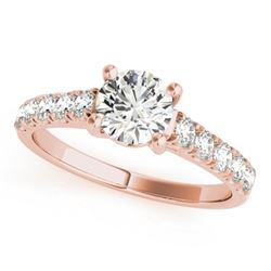1.05 CTW Certified VS/SI Diamond Solitaire Ring 18K Rose Gold - REF-196K2W - 28129