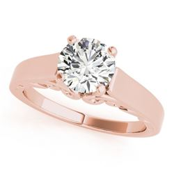 1.25 CTW Certified VS/SI Diamond Solitaire Ring 18K Rose Gold - REF-488N2A - 27787