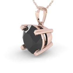 1 CTW Black Diamond Designer Necklace 18K Rose Gold - REF-52N4A - 32354