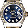 Rolex Men's 18K Yellow President, QuickSet, Diamond Dial & Diamond Bezel - REF-1403T2K
