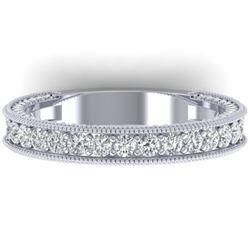 1.25 CTW VS/SI Diamond Art Deco Eternity Band Ring 14K White Gold - REF-96W4H - 30321