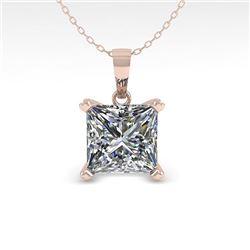 0.50 CTW VS/SI Princess Diamond Designer Necklace 18K White Gold - REF-97H8M - 32346