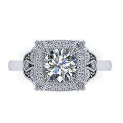 1.75 CTW Solitaire Certified VS/SI Diamond Ring 14K White Gold - REF-496N4A - 38553