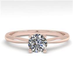 0.50 CTW VS/SI Diamond Engagement Designer Ring 18K Rose Gold - REF-107V3Y - 32381