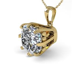 1 CTW Certified VS/SI Cushion Diamond Necklace 18K Yellow Gold - REF-297W2H - 35722