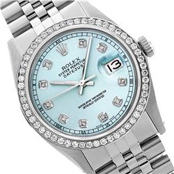 Rolex Ladies Stainless Steel, Diamond Dial & Diamond Bezel, Sapphire Crystal - REF-426N3A