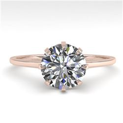 1.51 CTW Certified VS/SI Diamond Engagement Ring 18K Rose Gold - REF-567K2W - 35759
