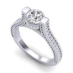 2 CTW VS/SI Diamond Micro Pave Ring 18K White Gold - REF-290R9K - 36947