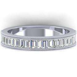 1 CTW Baguette VS/SI Diamond Art Deco Eternity Band 14K White Gold - REF-107W3H - 30315