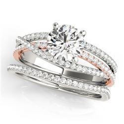 1.79 CTW Certified VS/SI Diamond 2Pc Set Solitaire 14K White & Rose Gold - REF-517V8Y - 32130