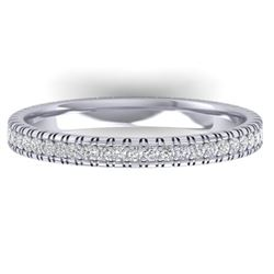 0.75 CTW Certified VS/SI Diamond Eternity Band Ring 14K White Gold - REF-53H3M - 30264