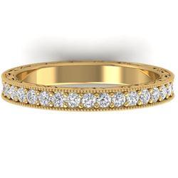 1 CTW Certified VS/SI Diamond Art Deco Eternity Band 14K Yellow Gold - REF-78Y2X - 30272