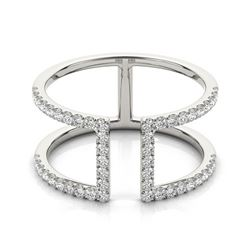 0.65 CTW Certified VS/SI Diamond Fashion Ring 18K White Gold - REF-80F2N - 28298
